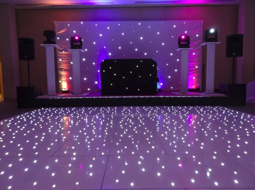 gold mirrored dance floor