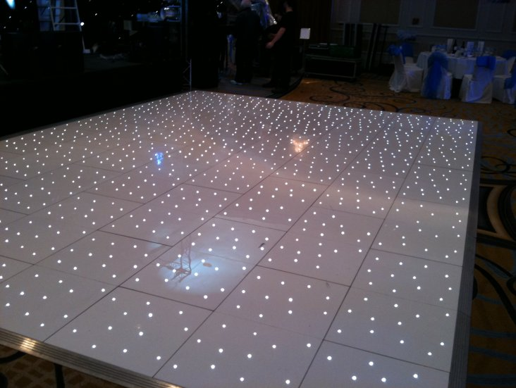 White Star Lit LED Dance Floor Hire