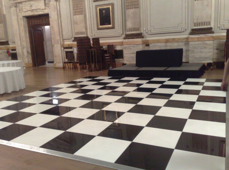 Black and White (Chequered) Dance Floor