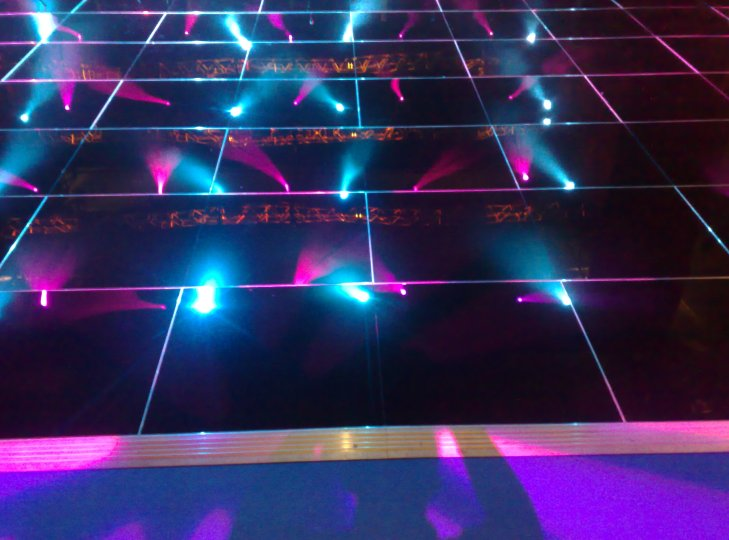 Black Dance Floor Hire with lighting effects