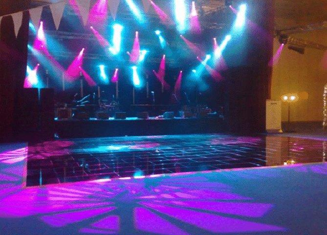 Black Dance Floor with lighting effects