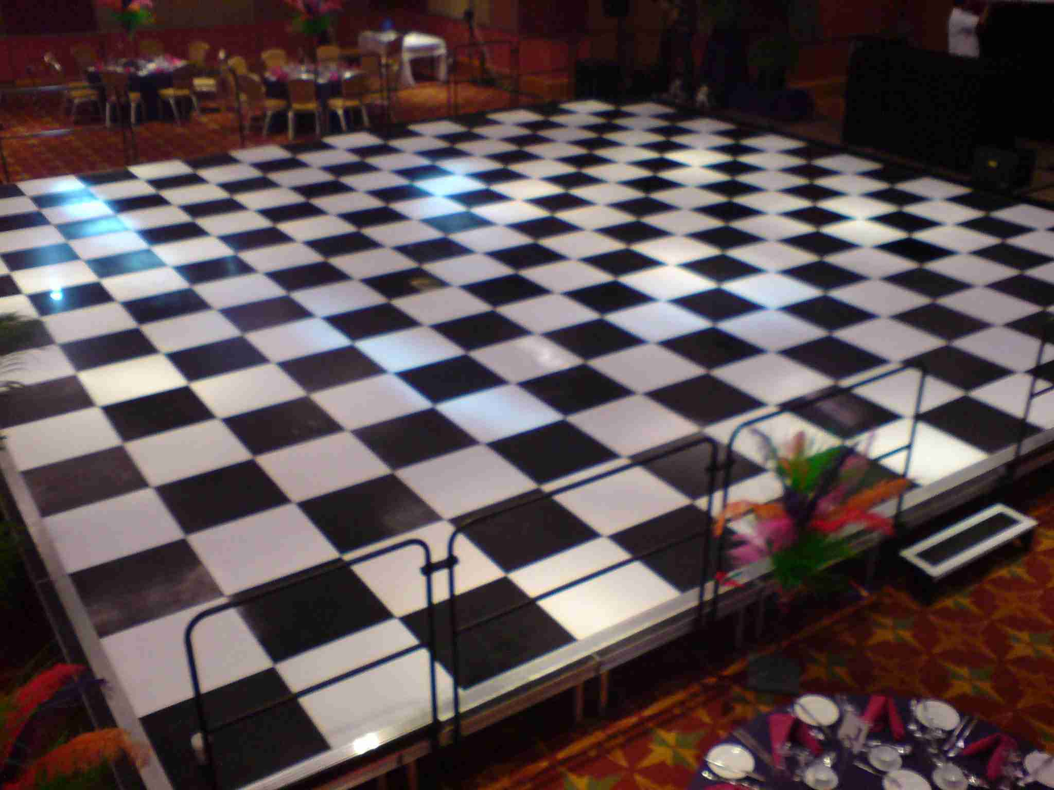 Raised Dance Flooring Hire