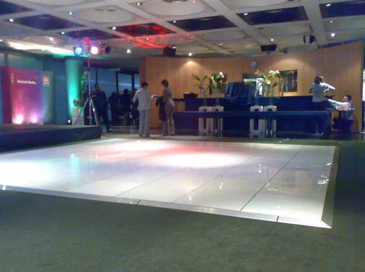 White Dance Flooring for UK Hire